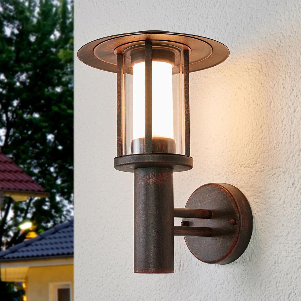 Vonkajšie nástenné LED svietidlo Pavlos hrdzavá