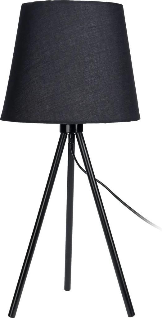 Stolná lampa Louro, čierna
