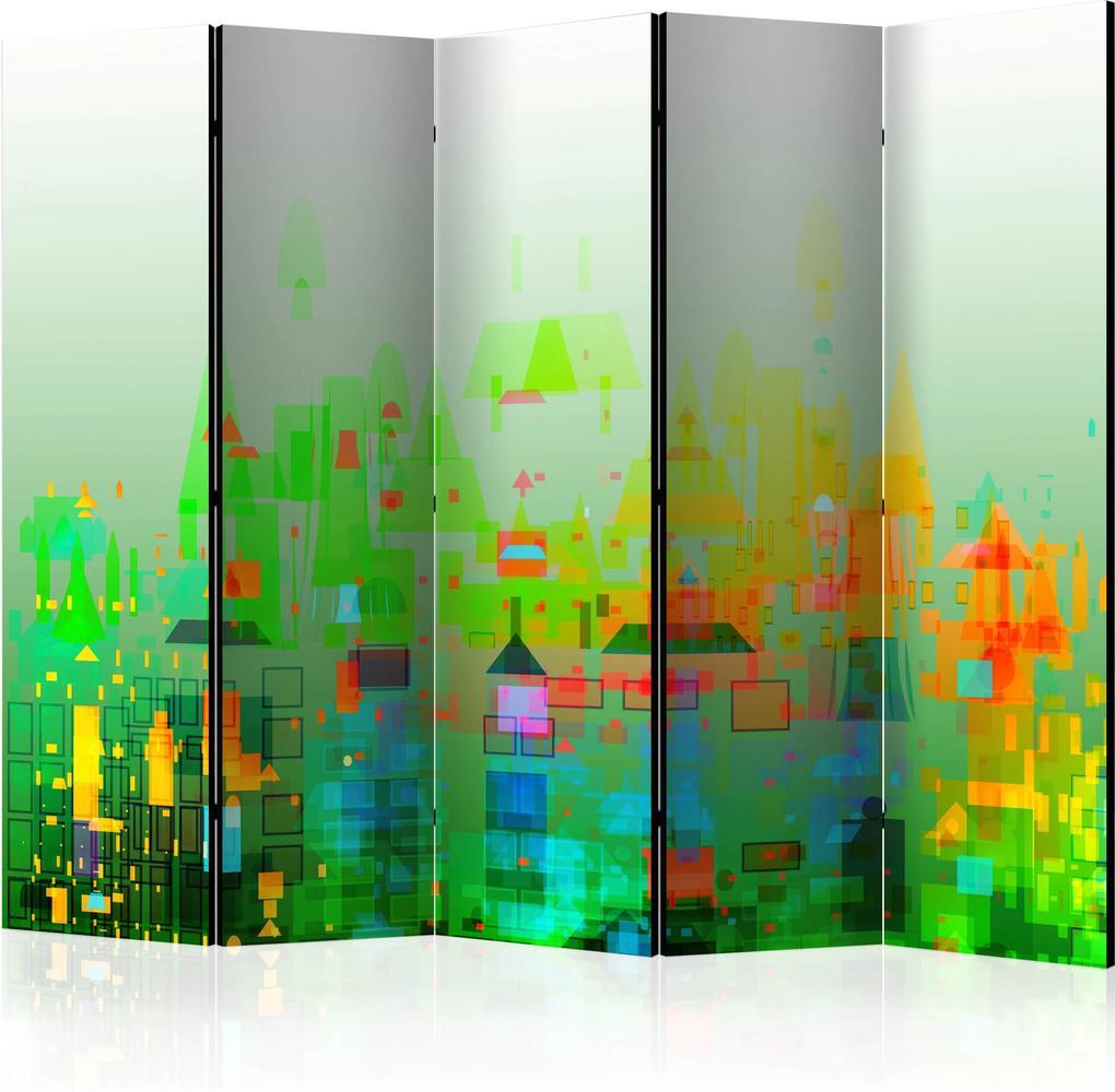 Paraván - Abstract City II [Room Dividers] 225x172 7-10 dní