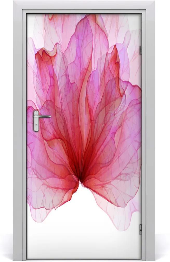 Samolepící fototapeta na dveře Růžový květ