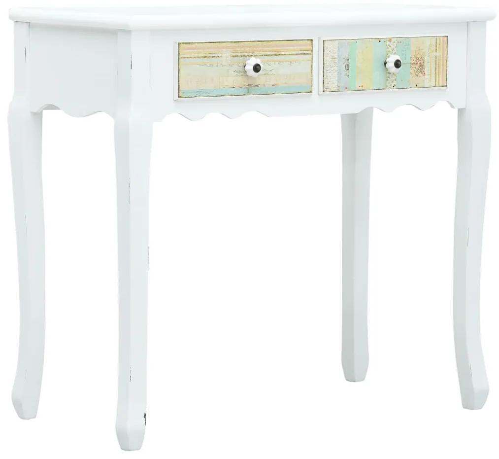 vidaXL Konzolový stolík, biely 80x40x74 cm, drevo