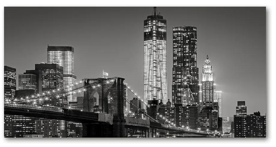 Foto obraz akrylový na stenu Manhattan noc pl-oa-140x70-f-80201482