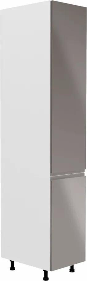 Potravinová skrinka, biela/sivá extra vysoký lesk, pravá, AURORA D40SP