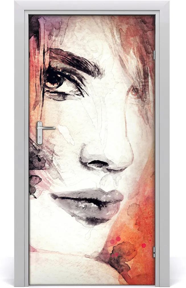 Samolepící fototapeta na dveře Abstrakce žena