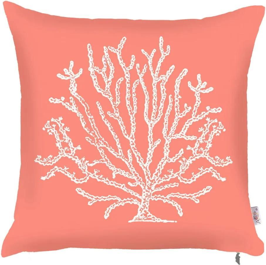 Obliečka na vankúš Mike & Co. NEW YORK Coral, 43 × 43 cm