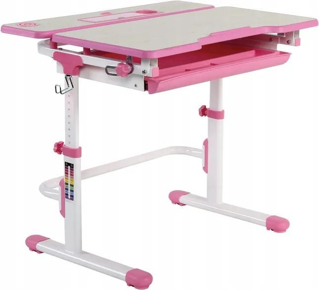 Fundesk Rastúci stôl LAVORO + stolička Farba: Ružová