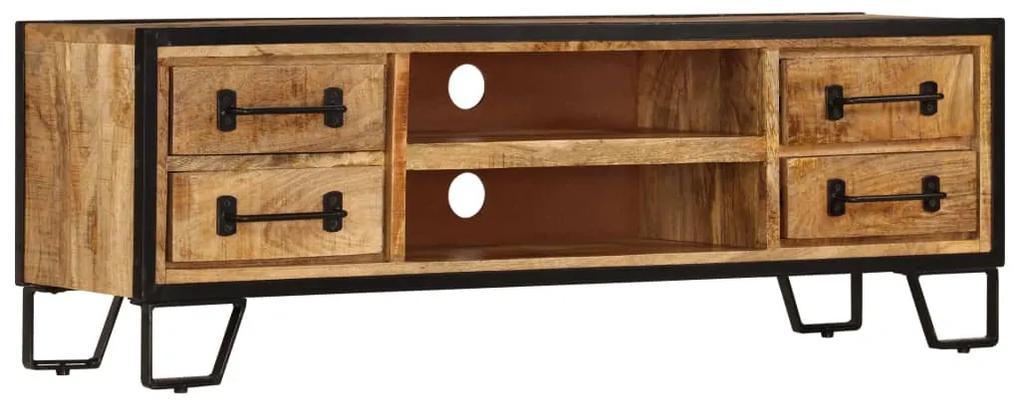 vidaXL TV skrinka z mangového dreva so zásuvkami 120x30x40 cm