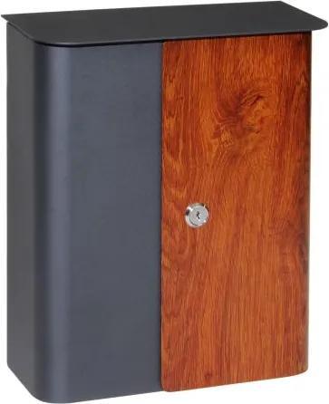 Poštovní schránka RICHTER BK.172.AM/W - antracit matná/imitace dřeva