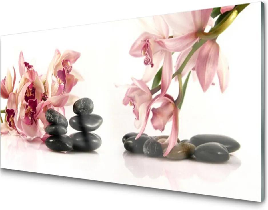 Akrylové obraz Květ kameny umění