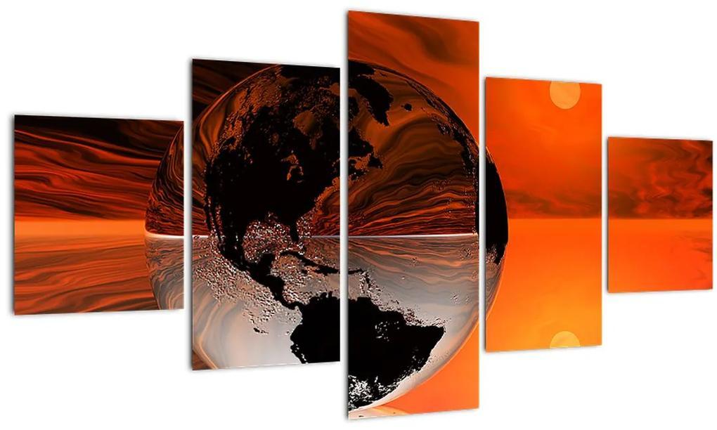 Obraz abstrakcie Zemeguľa (125x70 cm), 40 ďalších rozmerov
