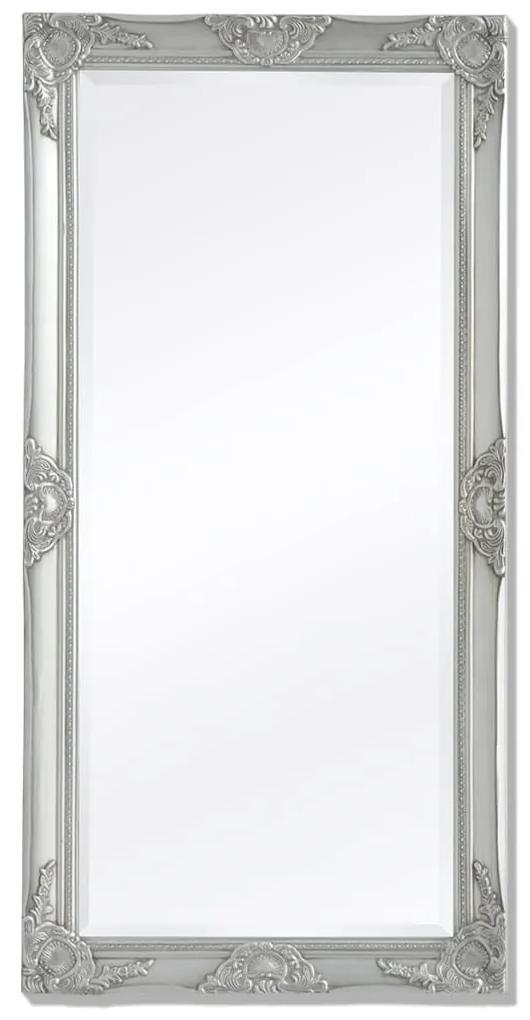 vidaXL Nástenné zrkadlo v barokovom štýle, 120x60 cm, strieborné