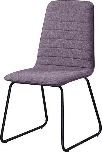 Jedálenská stolička DANUTA fialová / čierná Tempo Kondela