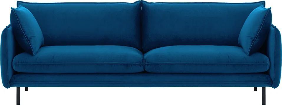 Luxusný 3-sed, parížska modrá, VINSON 3