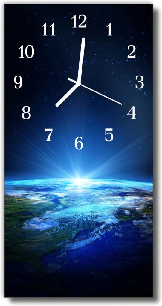 Skleněné hodiny vertikální Vesmír