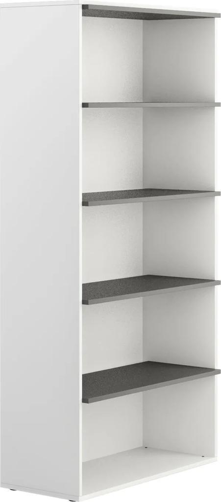 Skriňa vysoká otvorená White BOARDS bez dverí 1880 700 400 biela grafitová 4 BOARDS