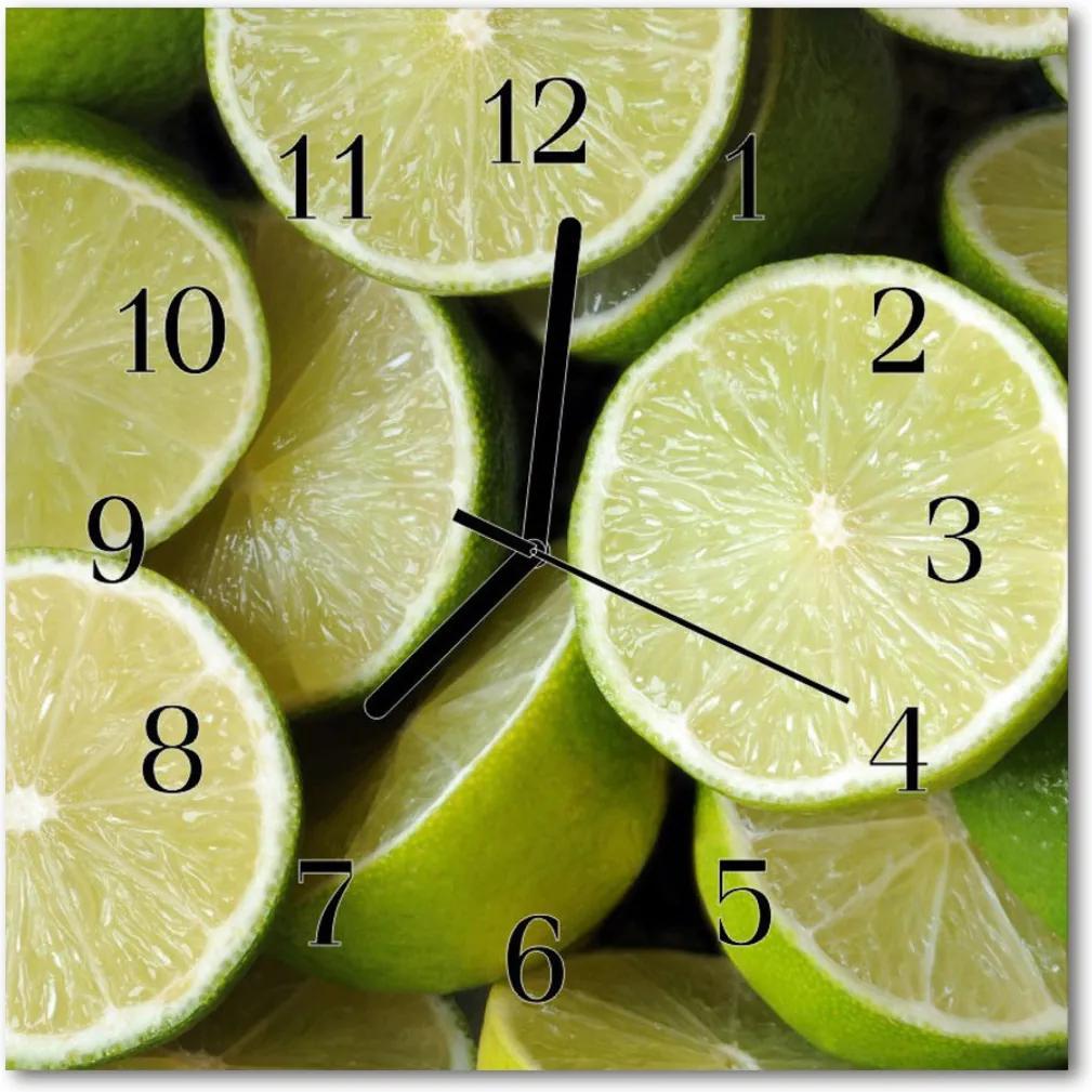 Skleněné hodiny čtvercové limetkou