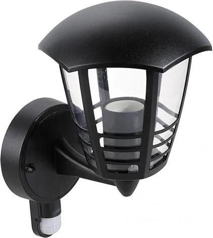 Rábalux 8578 Vonkajšie Nástenné Svietidlá s Čidlom Pohybu čierny E27 1X MAX 60W 170 x 290 mm