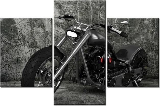 Tlačený obraz Tmavá motorka 90x60cm 1202A_3B
