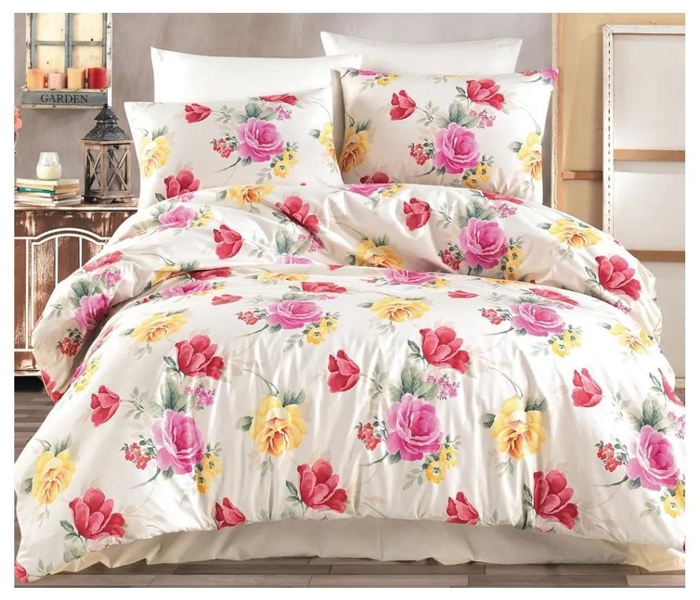 BedTex Francúzske bavlnené obliečky Renforcé – Tulip 200x220/70x90cm