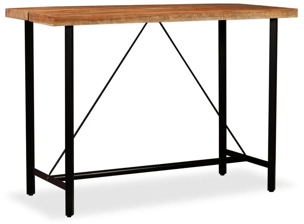 vidaXL Barový stolík, akáciový masív 150x70x107 cm