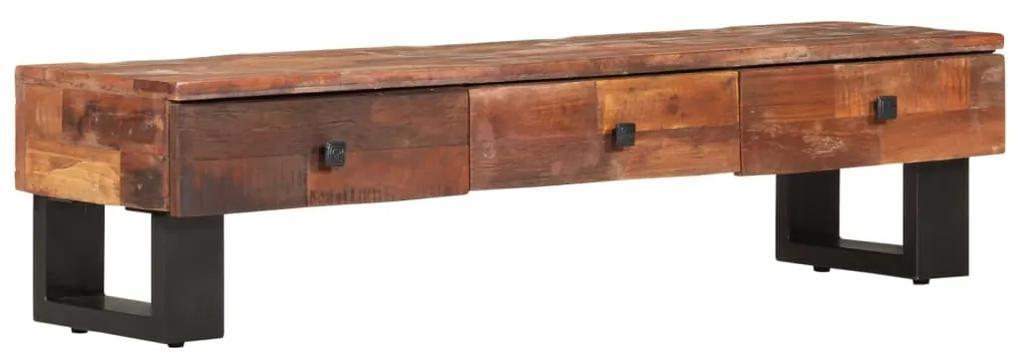 vidaXL TV skrinka 110x30x30 cm masívne recyklované drevo