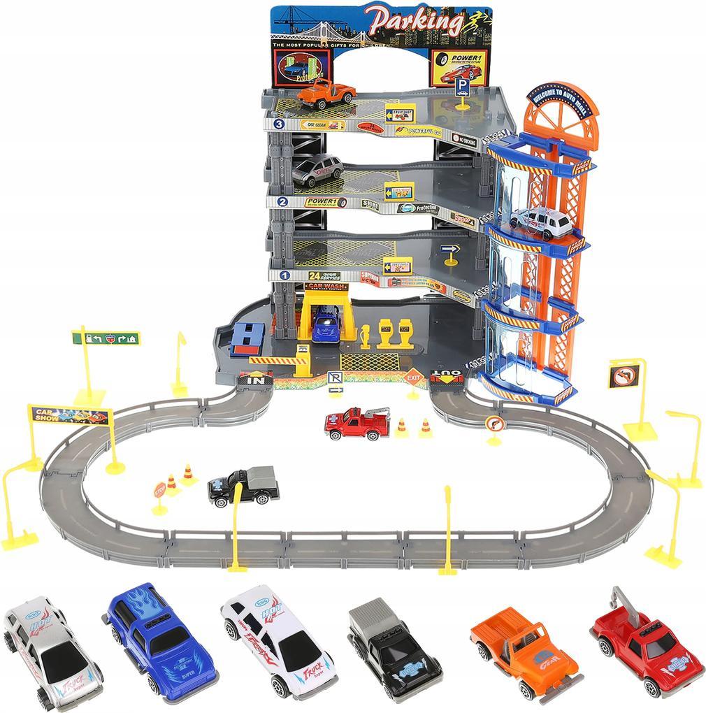 ISO Štvorposchodová garáž parkovisko dráha + 6x auto, 9503