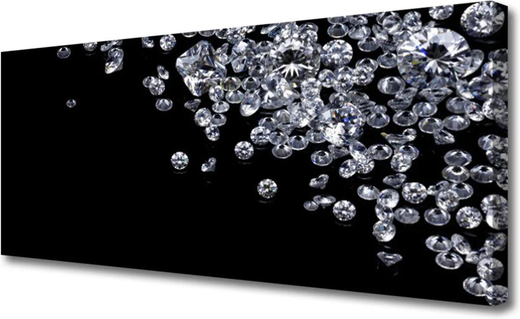 Obraz na plátně Sklenený Diamanty Umenie