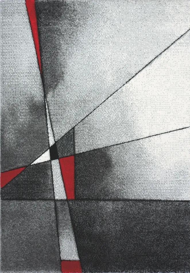 Medipa (Merinos) koberce Kusový koberec Brilliance 21807 grey-red - 80x150 cm