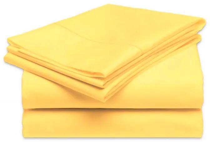 Posteľná plachta pevná - Žltá svetla - 160x220cm