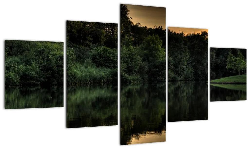 Obraz jazera pri lese (125x70 cm), 40 ďalších rozmerov