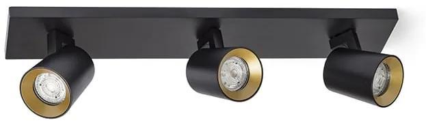 Stropné svietidlo RENDL RED KENNY III čierna/zlatá R12920
