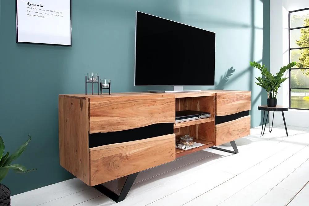 Luxusný TV stolík Argentinas z masívu