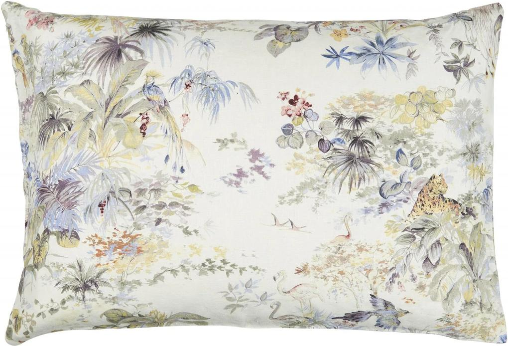 IB LAURSEN Ľanová obliečka na vankúš Flowers 50x70cm