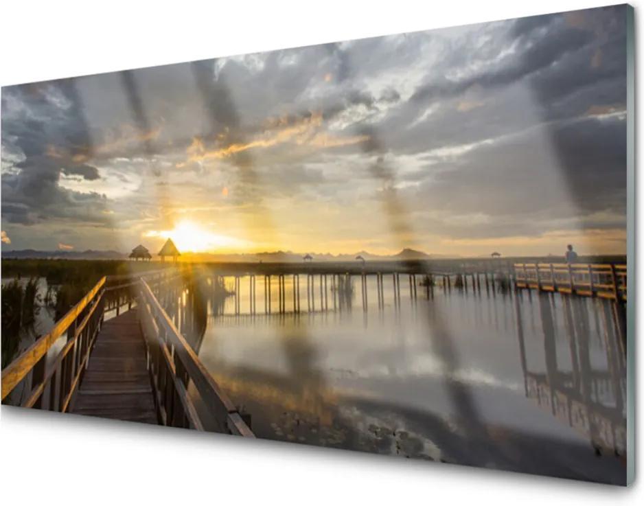 Obraz na skle Most moře architektura