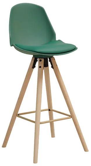 Oslo barová stolička 106 cm zelená/natur