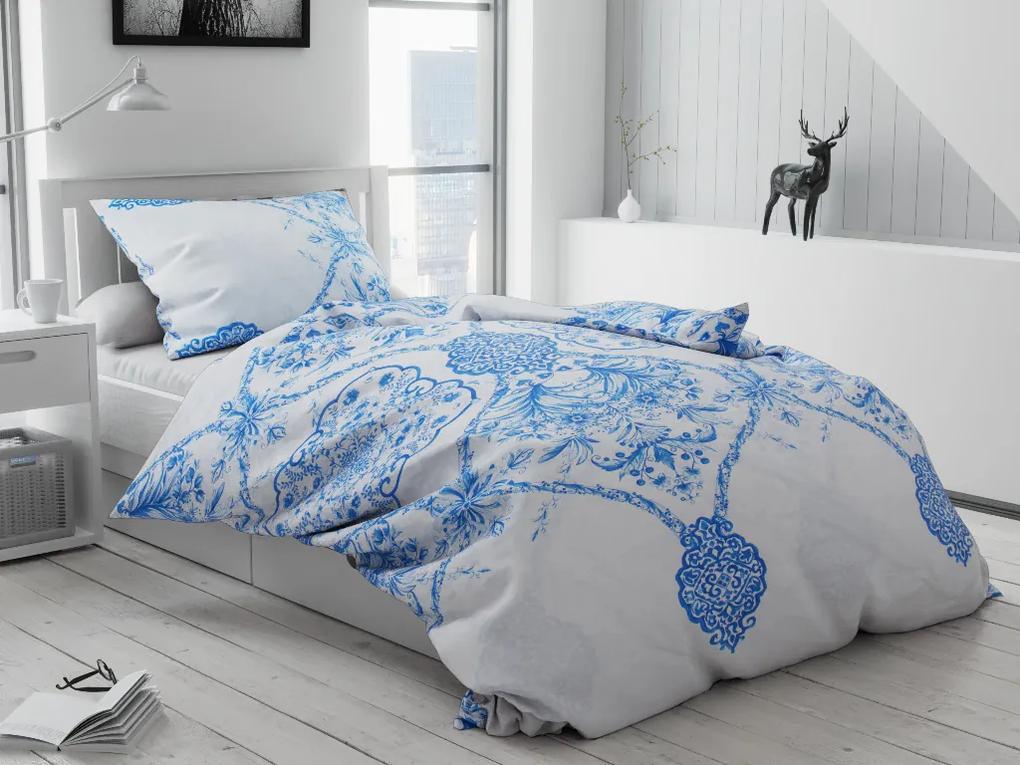 Bavlnené obliečky Cibulák biely Rozmer obliečok: 2 ks 70 x 90 cm, 200 x 220 cm