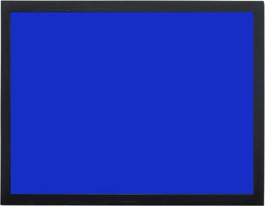 Toptabule.sk KRT03CR Modrá magnetická kriedová tabuľa v čiernom drevenom ráme 120x180cm / magneticky