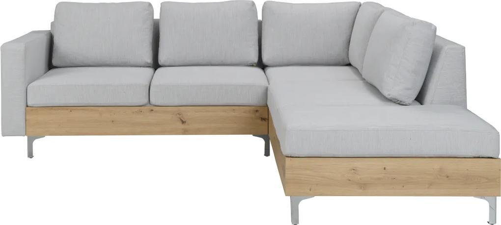 Expedo Rohová sedačka BLOOM WOOD, 235,5x70x212 cm, avellino 118/artisan, pravý