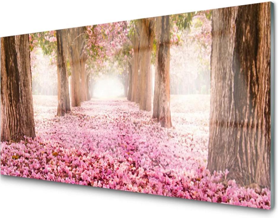 Akrylové obraz Strom růže květiny příroda