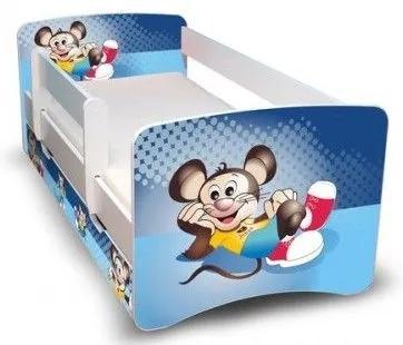 MAXMAX Detská posteľ 160x70 cm so zásuvkou - Myšiak II 160x70 pre chlapca ÁNO