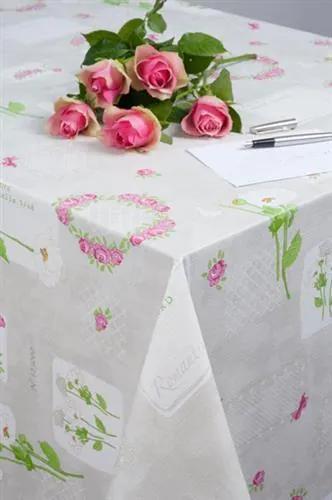 Obrus PVC Romantic kvety metráž, šírka 140 cm, IMPOL TRADE