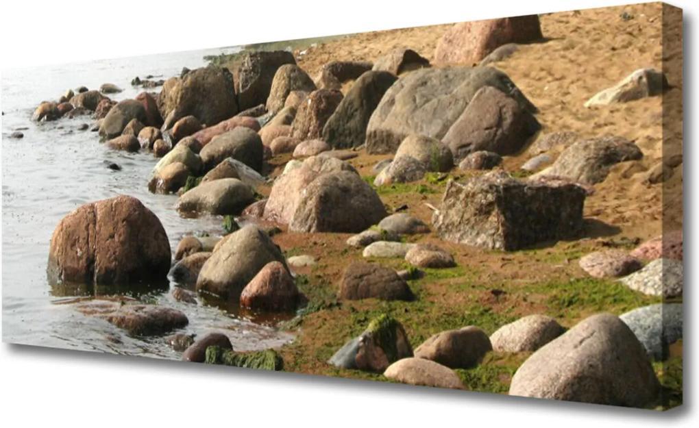 Obraz na plátně Kameny moře krajina