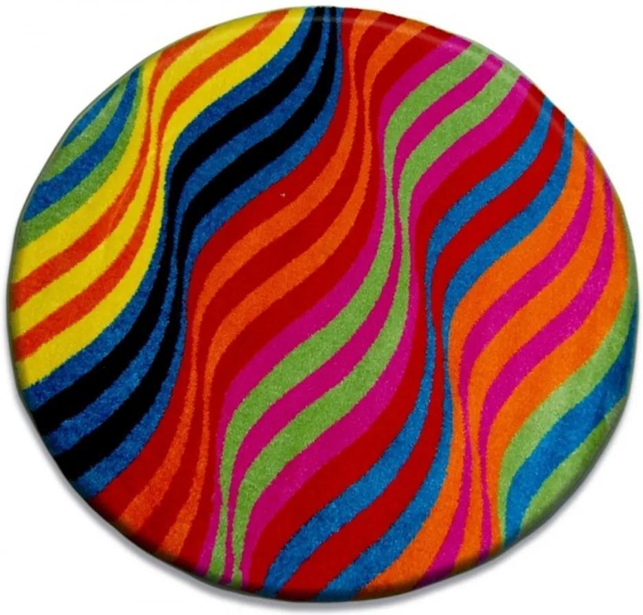 Detský kusový koberec Mat viacfarebný kruh 120x120, Velikosti 120cm
