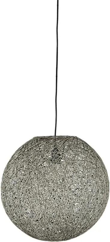 Sivé stropné svietidlo LABEL51 Twist, ⌀ 45 cm