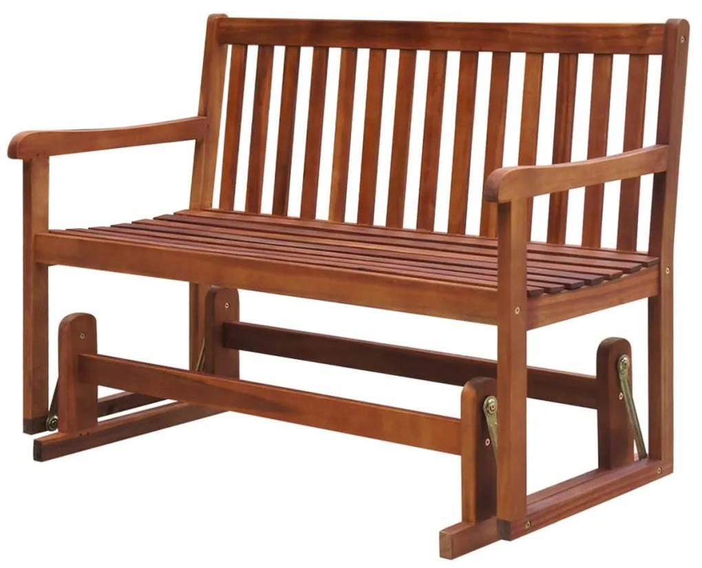 vidaXL Hojdacia záhradná lavička 125 cm, akáciový masív