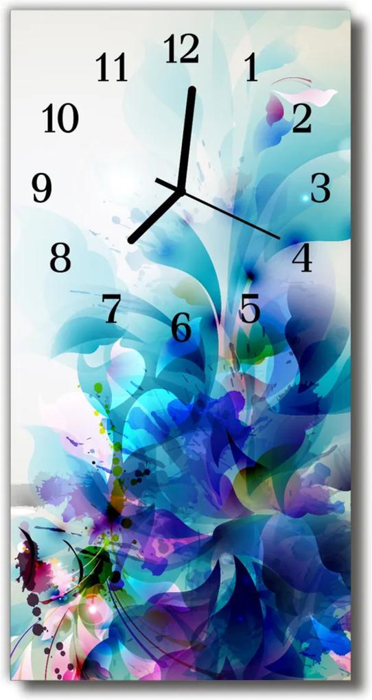 Skleněné hodiny vertikální Umělecký vzor, barevné umělecké dílo