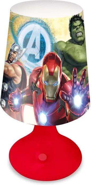 EUROSWAN Nočná stolná LED lampička Avengers 18x9 cm