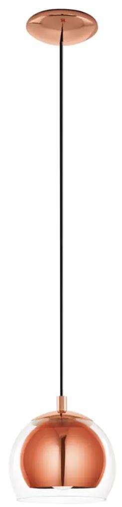 EGLO Závesné svietidlo Rocamer, farba medi, 94589