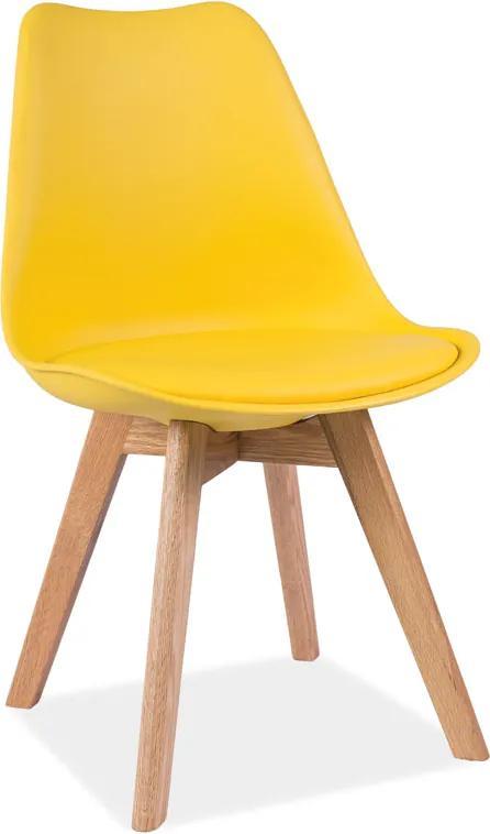 Najlacnejsinabytok KRIS jedálenská stolička, žltá/dub
