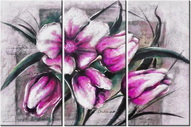 Tlačený obraz Kompozícia ružových tulipánov 90x60cm 3898A_3J